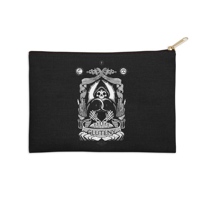Gluteny Accessories Zip Pouch by Skulls Society