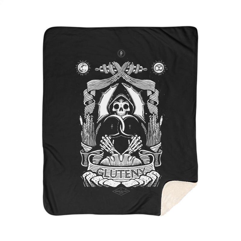 Gluteny Home Sherpa Blanket Blanket by Skulls Society