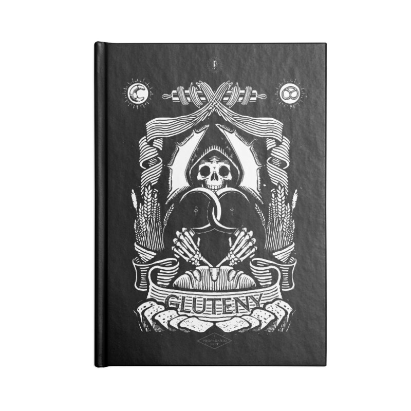 Gluteny Accessories Blank Journal Notebook by Skulls Society