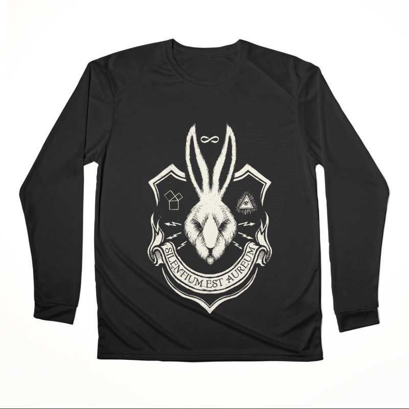 Silence is Golden Women's Performance Unisex Longsleeve T-Shirt by Skulls Society
