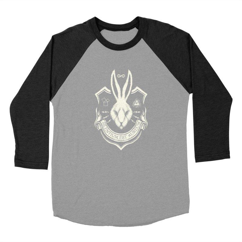 Silence is Golden Men's Baseball Triblend Longsleeve T-Shirt by Skulls Society