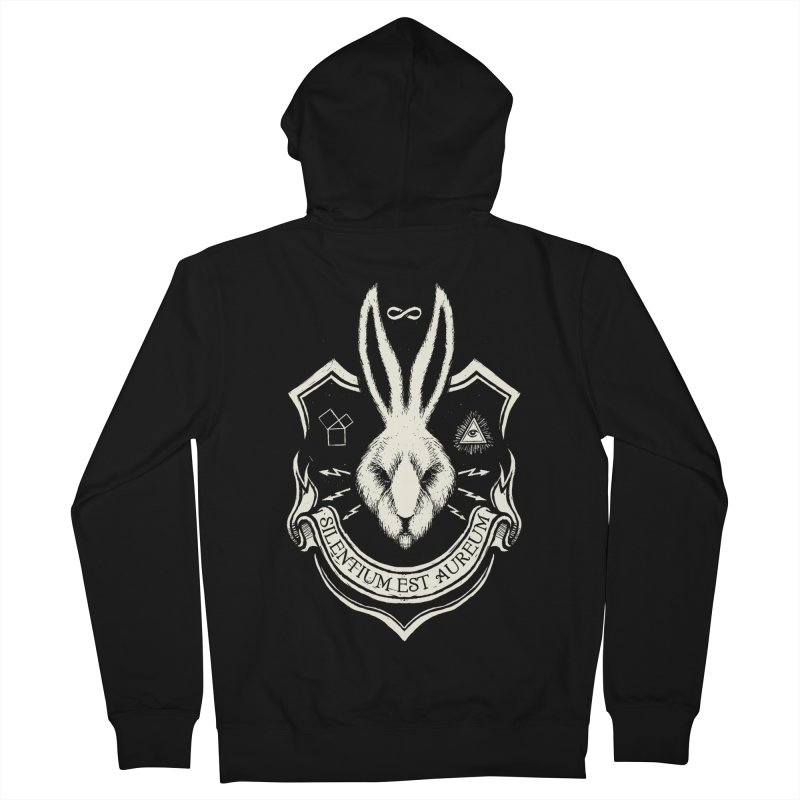 Silence is Golden Men's French Terry Zip-Up Hoody by Skulls Society