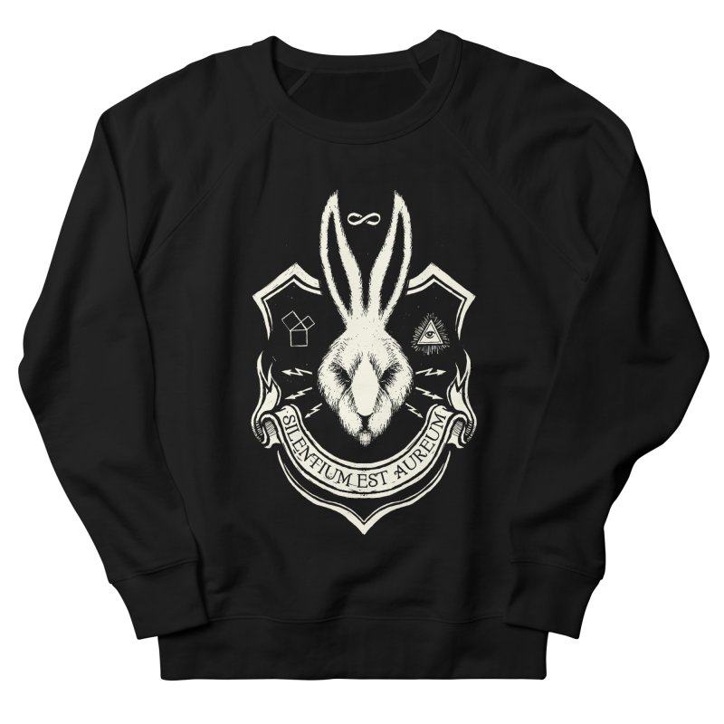 Silence is Golden Women's French Terry Sweatshirt by Skulls Society