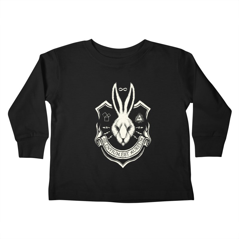 Silence is Golden Kids Toddler Longsleeve T-Shirt by Skulls Society