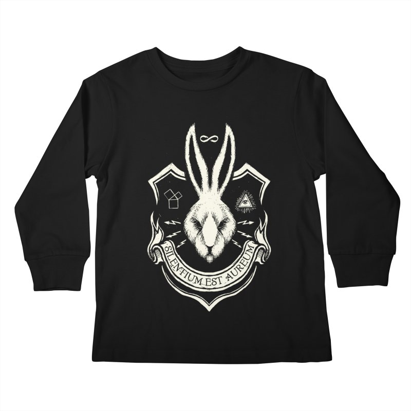 Silence is Golden Kids Longsleeve T-Shirt by Skulls Society