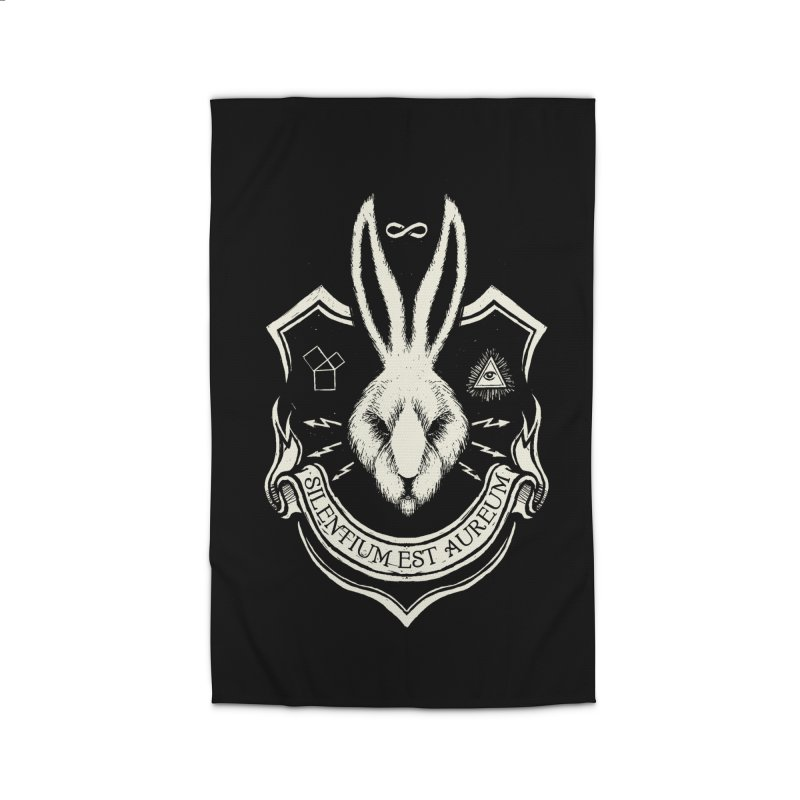 Silence is Golden Home Rug by Skulls Society