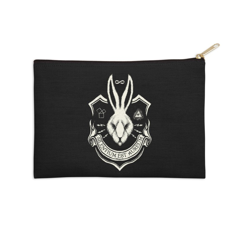 Silence is Golden Accessories Zip Pouch by Skulls Society