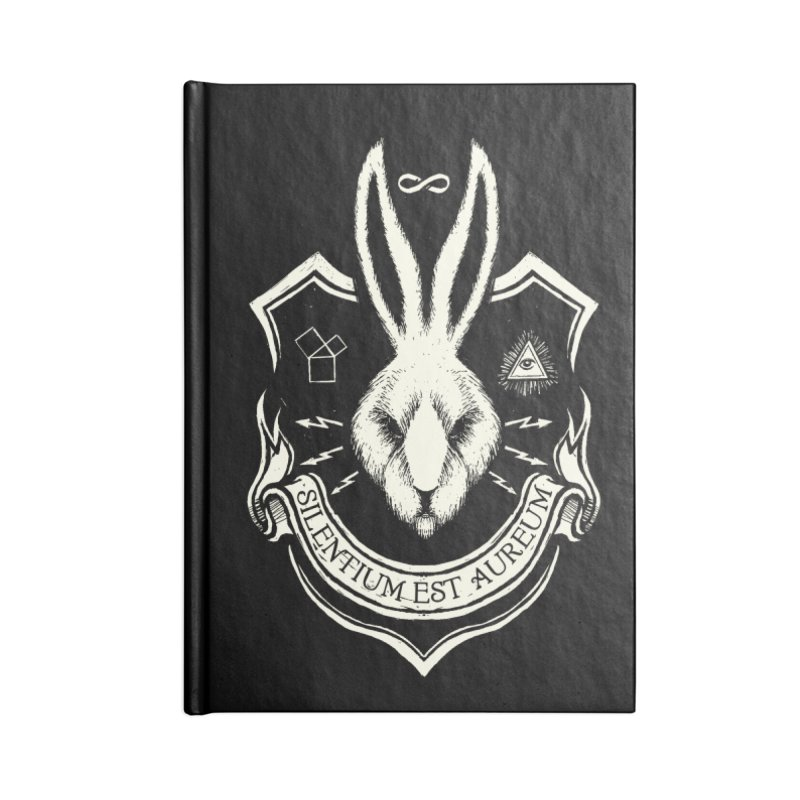 Silence is Golden Accessories Blank Journal Notebook by Skulls Society