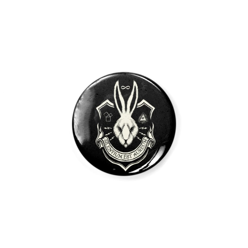 Silence is Golden Accessories Button by Skulls Society