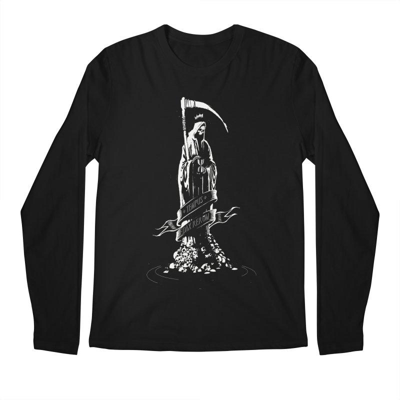 TEMPUS EDAX RERUM Men's Longsleeve T-Shirt by Skulls Society