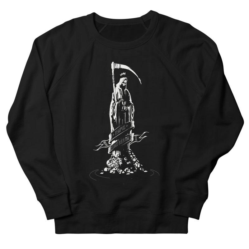 TEMPUS EDAX RERUM Women's French Terry Sweatshirt by Skulls Society