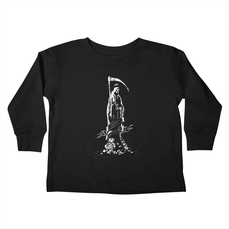 TEMPUS EDAX RERUM Kids Toddler Longsleeve T-Shirt by Skulls Society