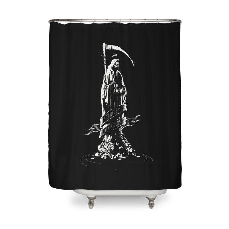 TEMPUS EDAX RERUM Home Shower Curtain by Skulls Society