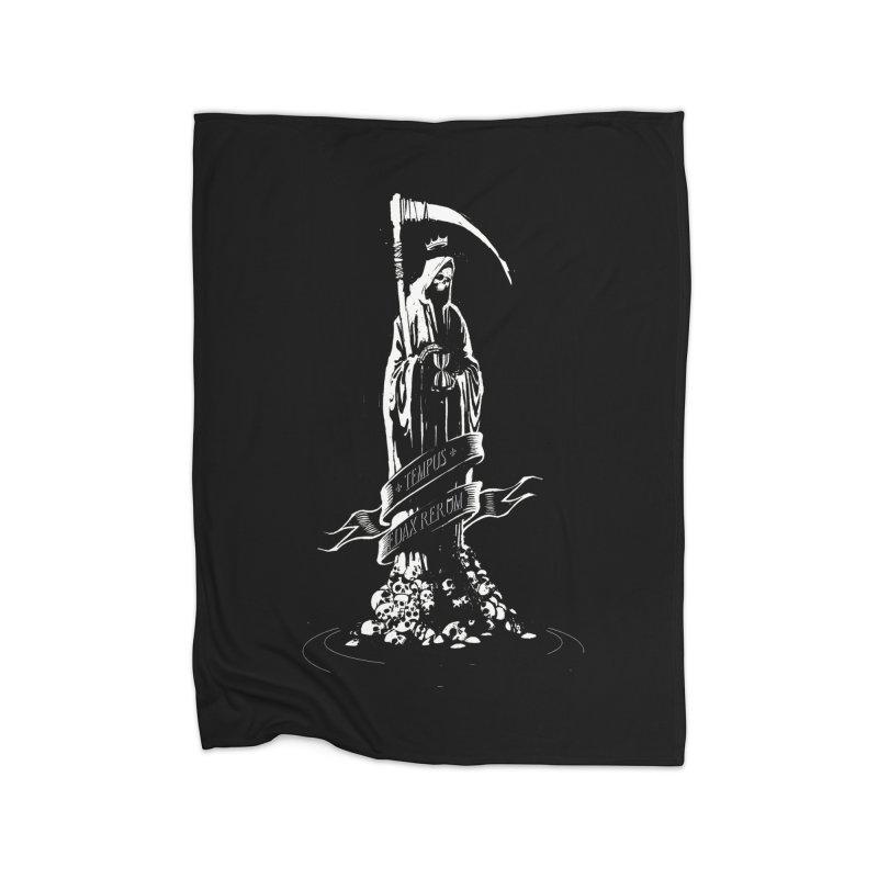 TEMPUS EDAX RERUM Home Blanket by Skulls Society