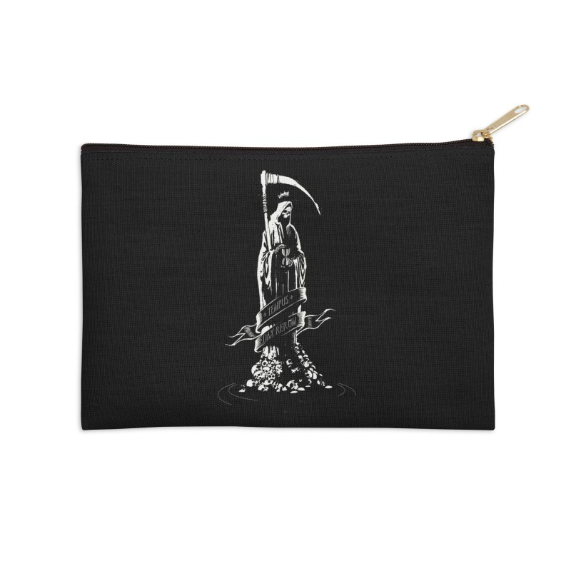 TEMPUS EDAX RERUM Accessories Zip Pouch by Skulls Society