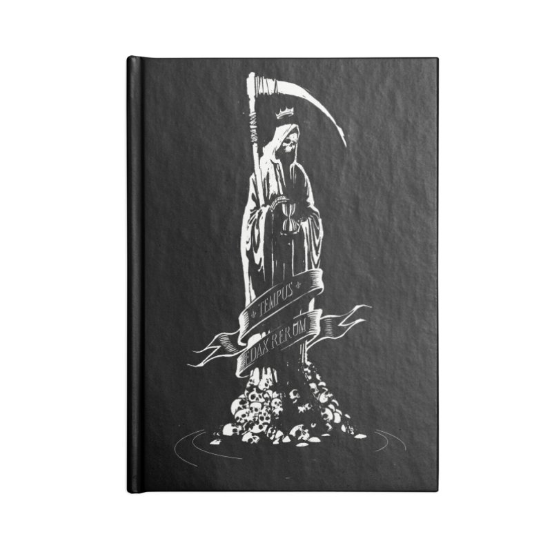 TEMPUS EDAX RERUM Accessories Lined Journal Notebook by Skulls Society
