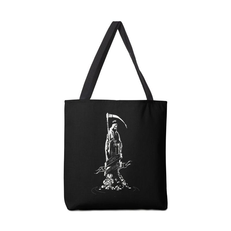 TEMPUS EDAX RERUM Accessories Tote Bag Bag by Skulls Society