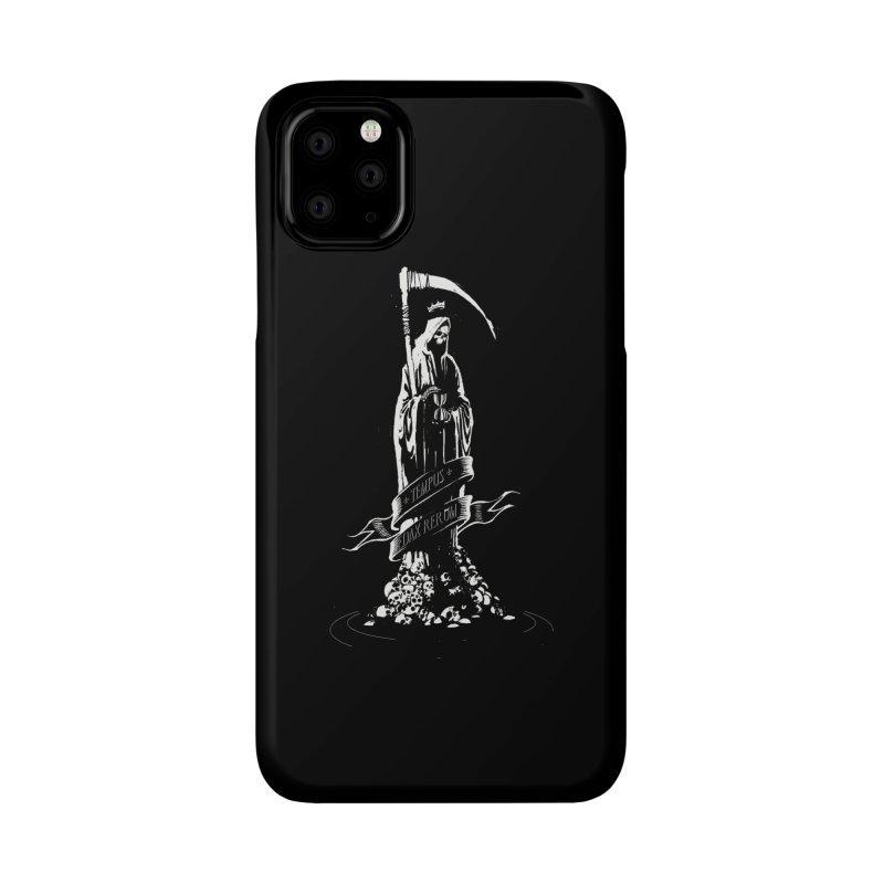 TEMPUS EDAX RERUM Accessories Phone Case by Skulls Society