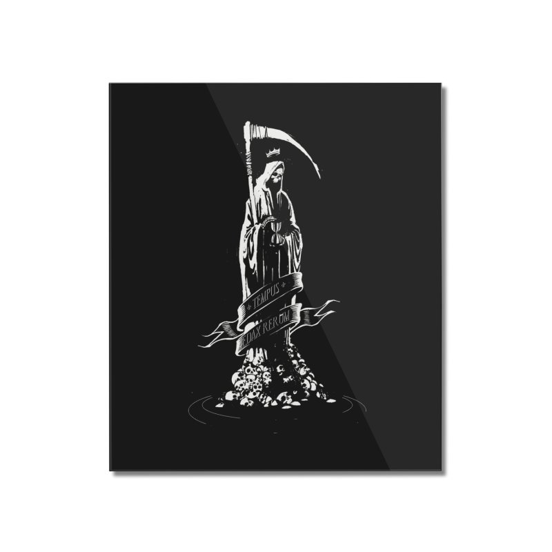 TEMPUS EDAX RERUM Home Mounted Acrylic Print by Skulls Society