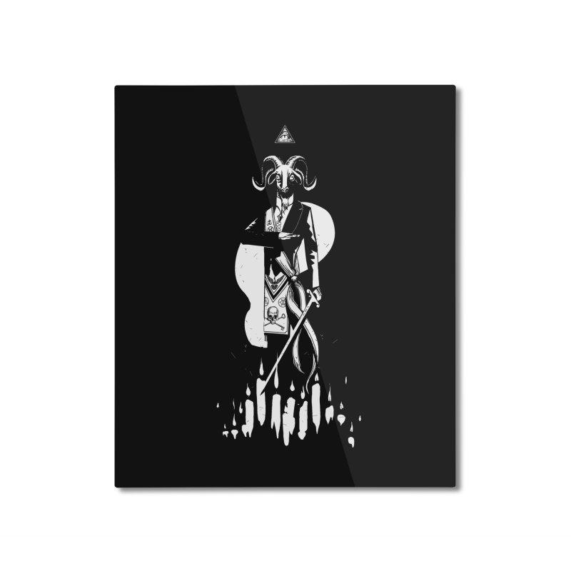 Archgoat Summoning Home Mounted Aluminum Print by Skulls Society