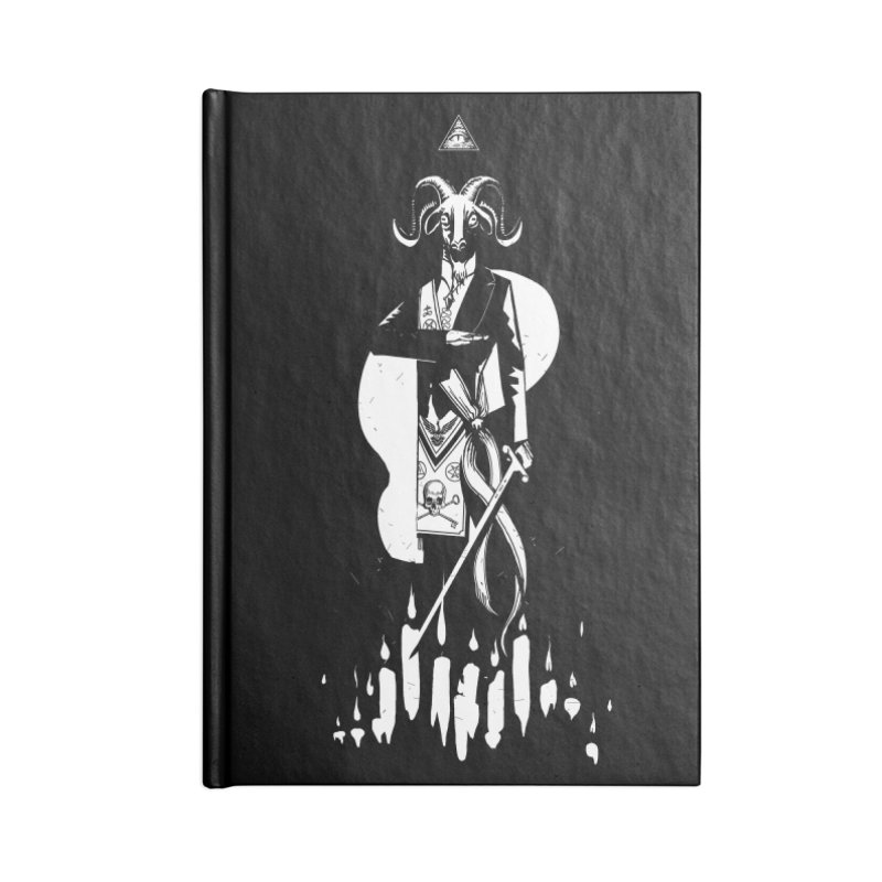 Archgoat Summoning Accessories Lined Journal Notebook by Skulls Society