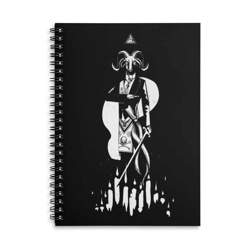 Archgoat Summoning Accessories Lined Spiral Notebook by Skulls Society