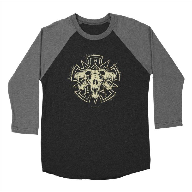Hellhound of Hades Men's Baseball Triblend Longsleeve T-Shirt by Skulls Society