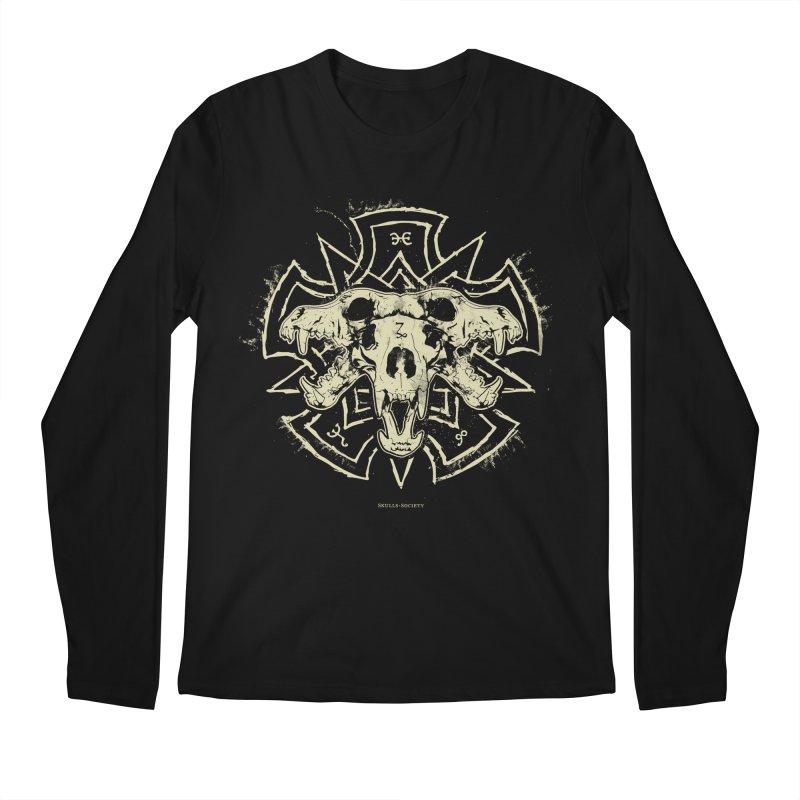 Hellhound of Hades Men's Regular Longsleeve T-Shirt by Skulls Society