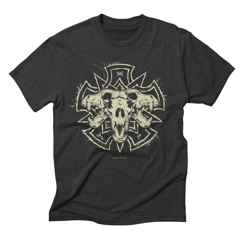 Hellhound of Hades Men's Triblend T-Shirt by Skulls Society