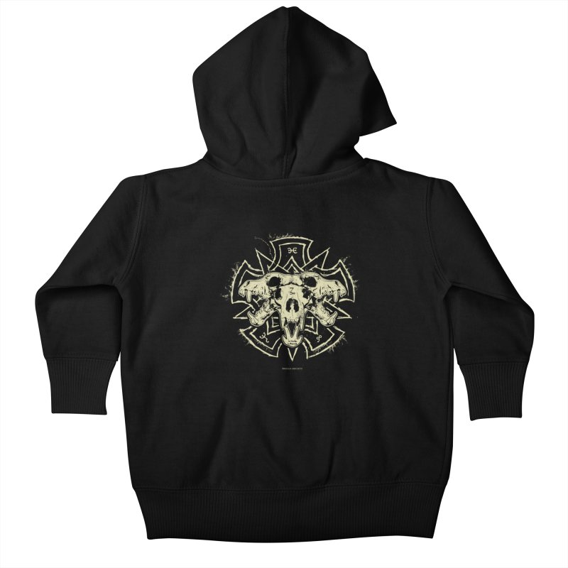 Hellhound of Hades Kids Baby Zip-Up Hoody by Skulls Society