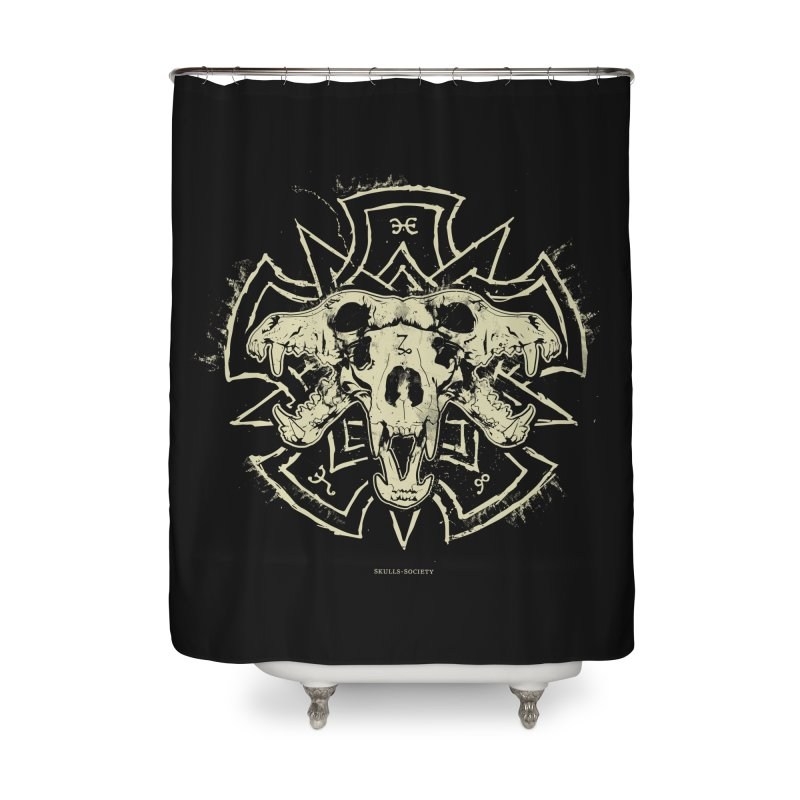 Hellhound of Hades Home Shower Curtain by Skulls Society