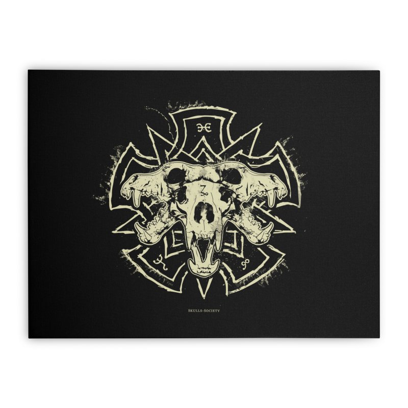 Hellhound of Hades Home Stretched Canvas by Skulls Society