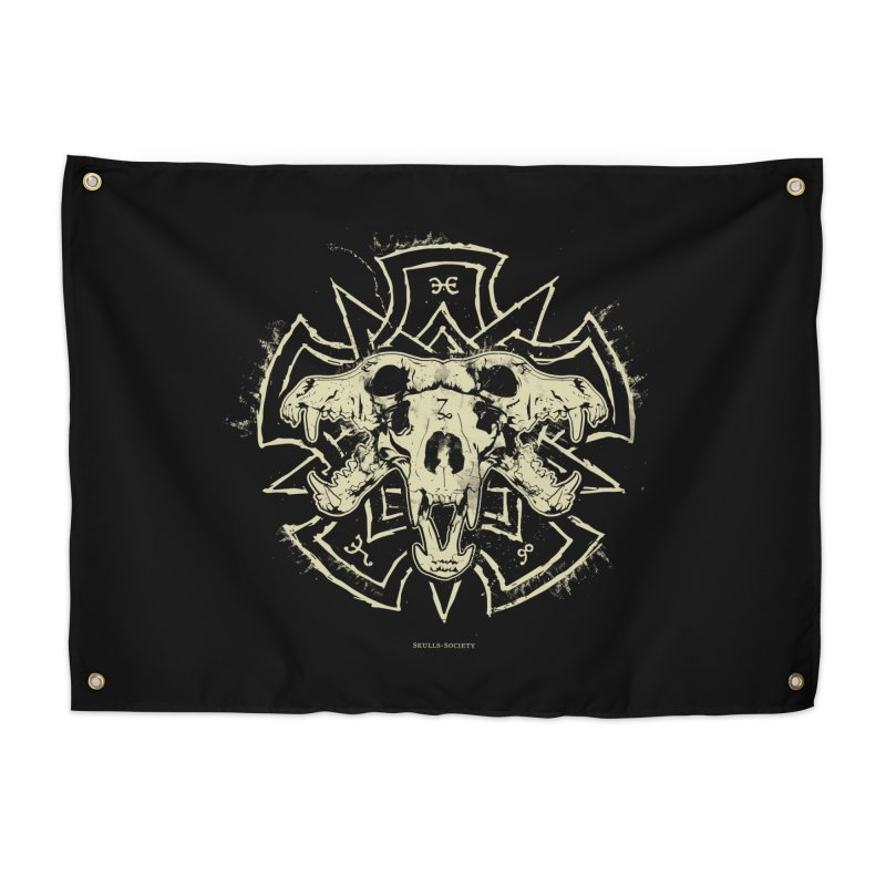 Hellhound of Hades Home Tapestry by Skulls Society