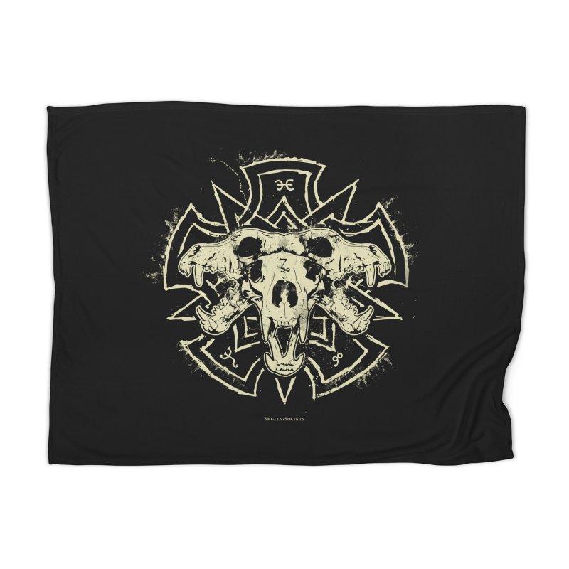 Hellhound of Hades Home Blanket by Skulls Society