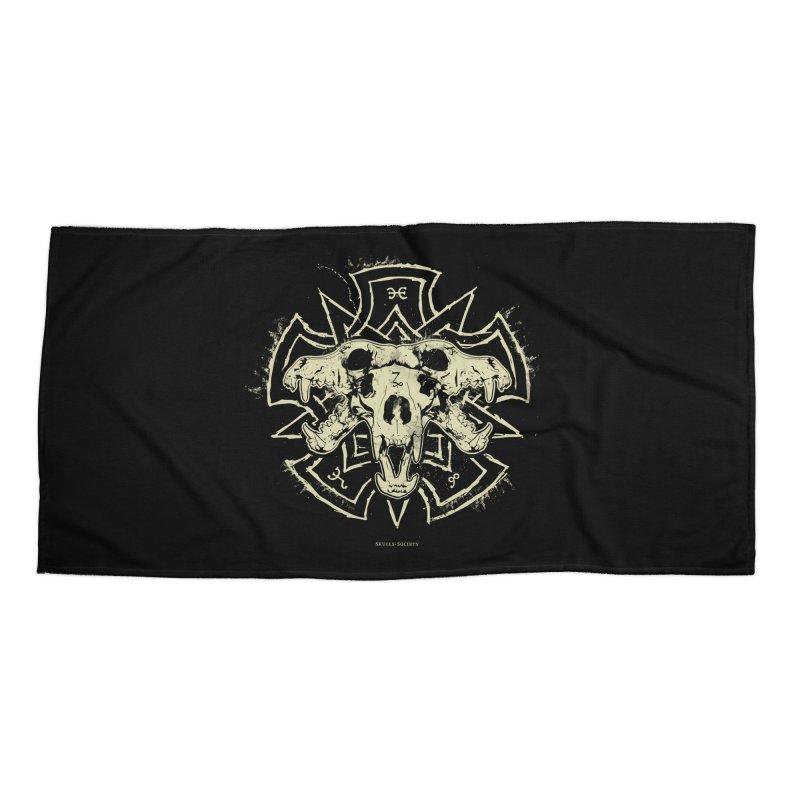 Hellhound of Hades Accessories Beach Towel by Skulls Society