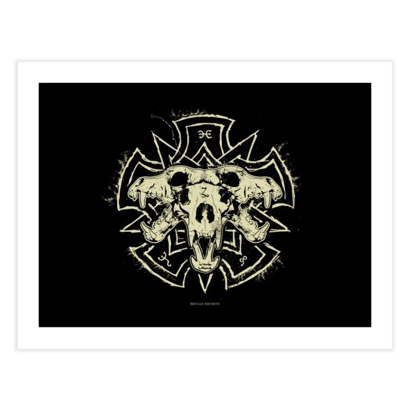 Hellhound of Hades Home Fine Art Print by Skulls Society