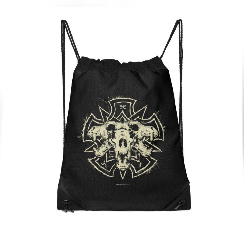 Hellhound of Hades Accessories Drawstring Bag Bag by Skulls Society