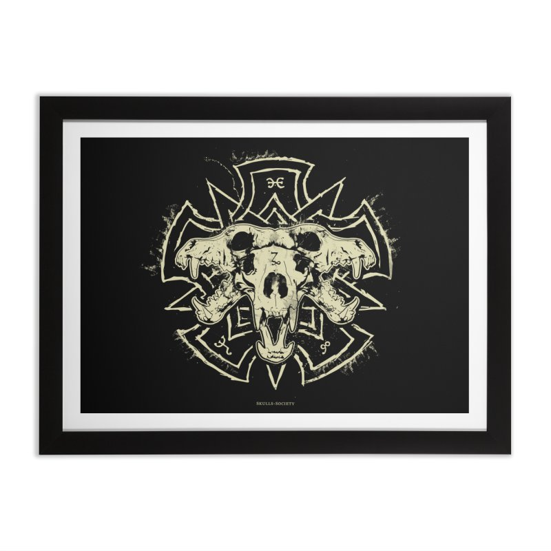 Hellhound of Hades Home Framed Fine Art Print by Skulls Society