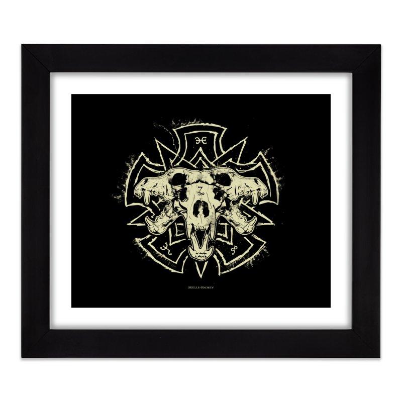 Hellhound of Hades Home Framed Fine Art Print by Skulls Society