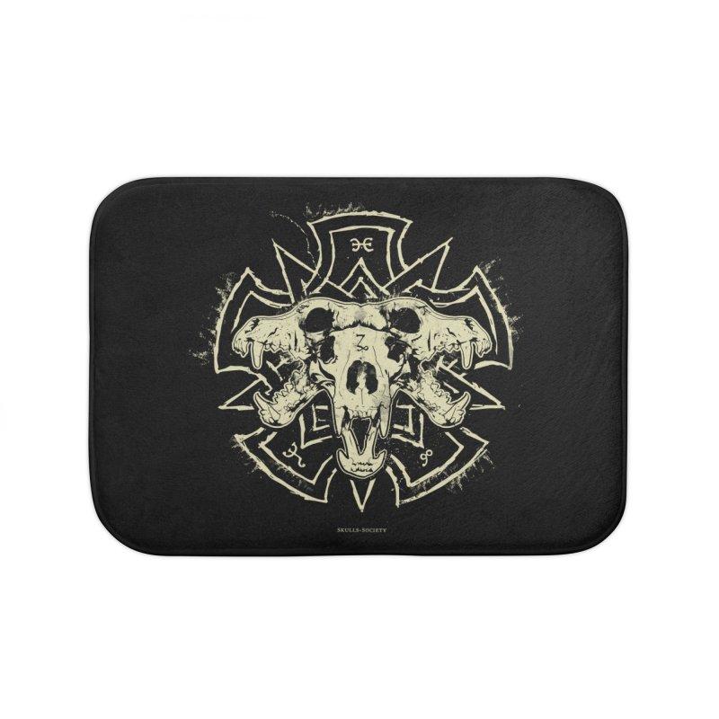 Hellhound of Hades Home Bath Mat by Skulls Society