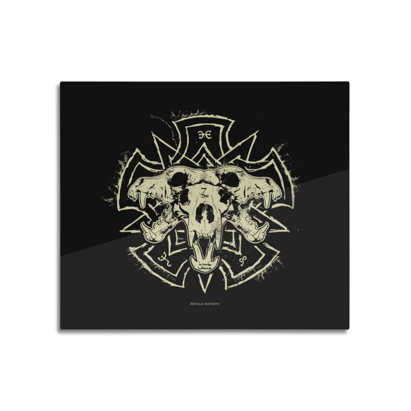 Hellhound of Hades Home Mounted Aluminum Print by Skulls Society