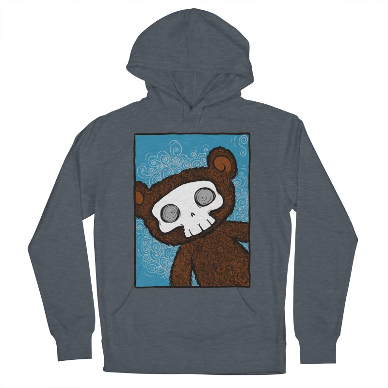 Hello There SkullyBear Women's French Terry Pullover Hoody by SkullyFlower's Sweetly Creepy Tees