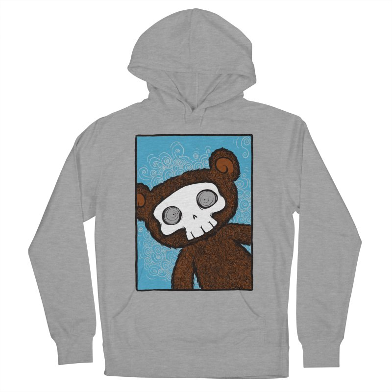 Hello There SkullyBear Men's French Terry Pullover Hoody by SkullyFlower's Sweetly Creepy Tees