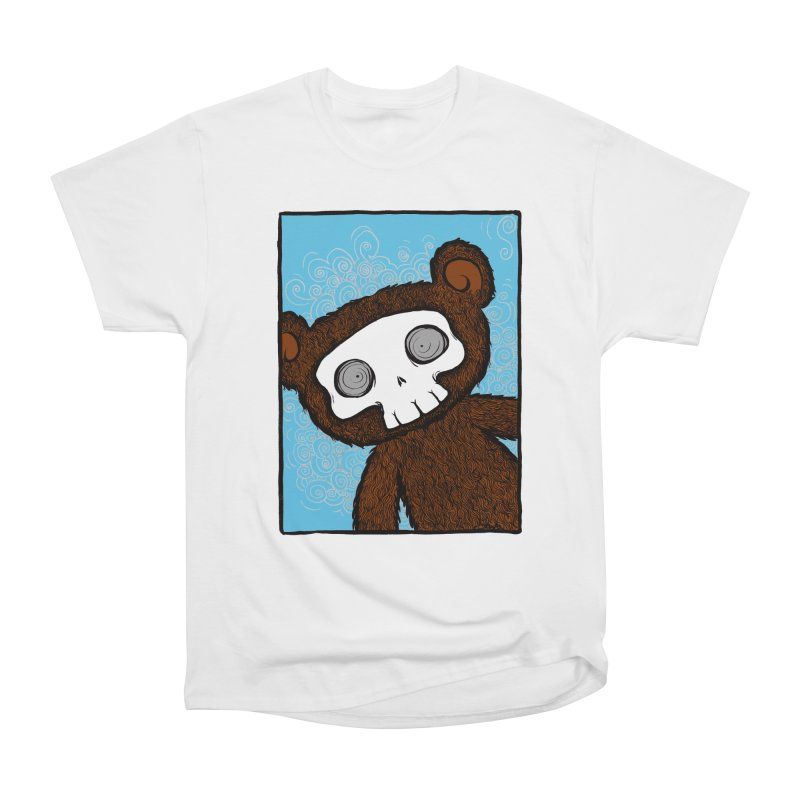 Hello There SkullyBear Men's Heavyweight T-Shirt by SkullyFlower's Sweetly Creepy Tees