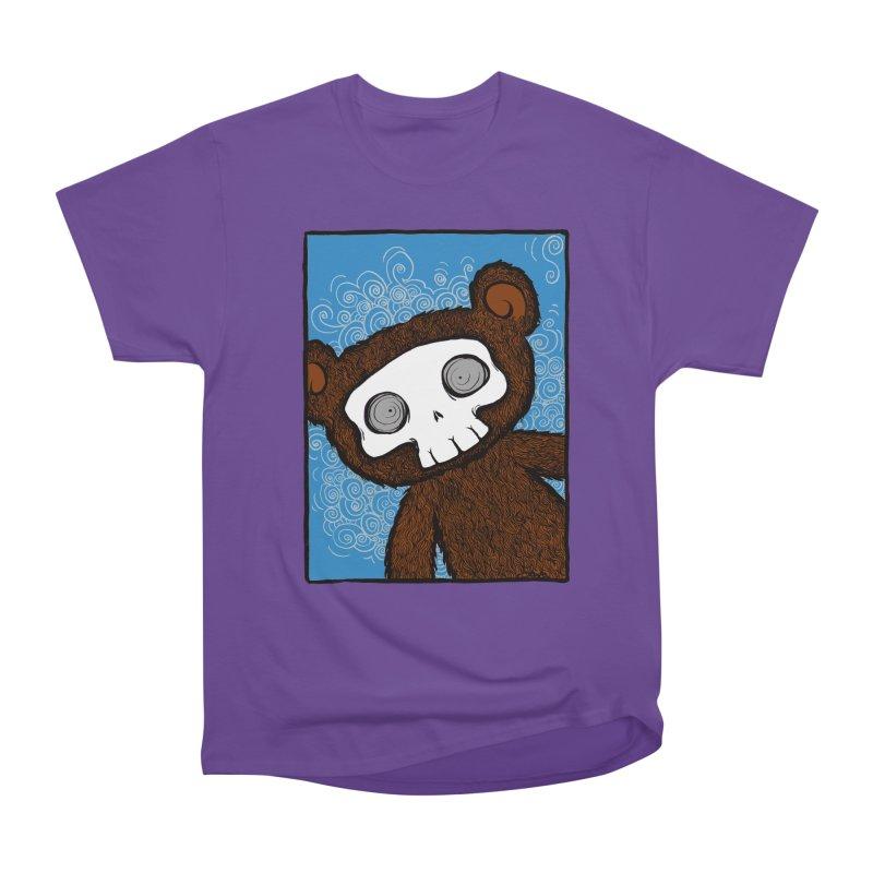 Hello There SkullyBear Men's Heavyweight T-Shirt by SkullyFlower's Sweetly Creepy Tees