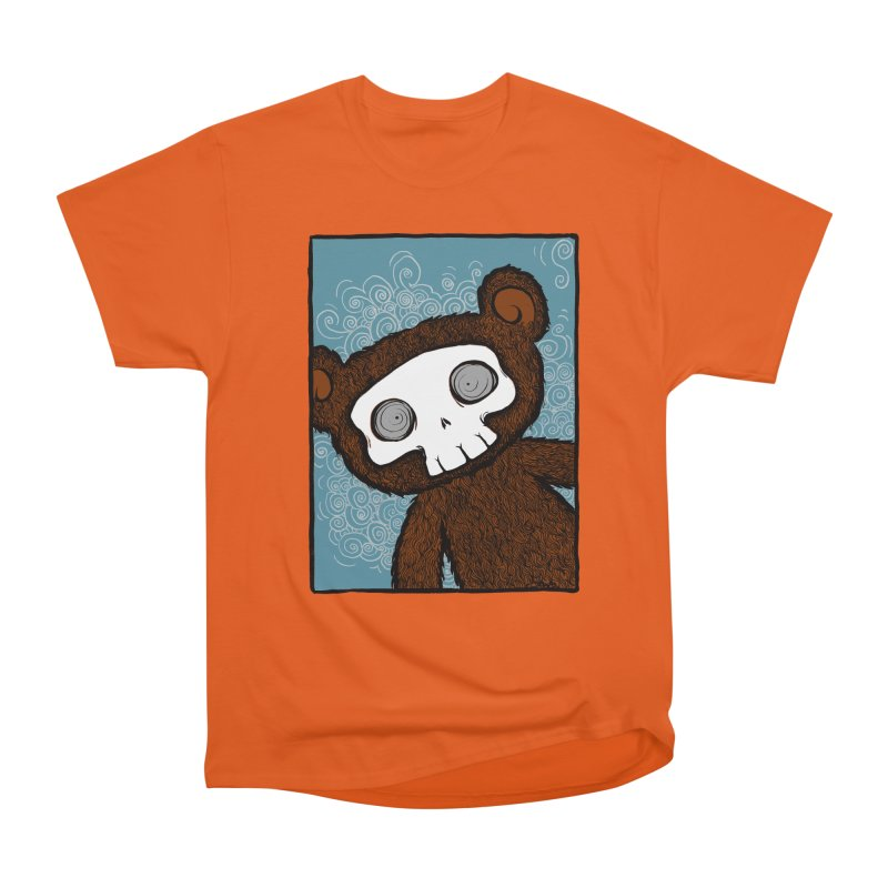 Hello There SkullyBear Women's Heavyweight Unisex T-Shirt by SkullyFlower's Sweetly Creepy Tees