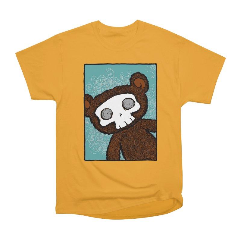 Hello There SkullyBear Women's Heavyweight Unisex T-Shirt by SkullyFlower's Sweetly Creepy Tees