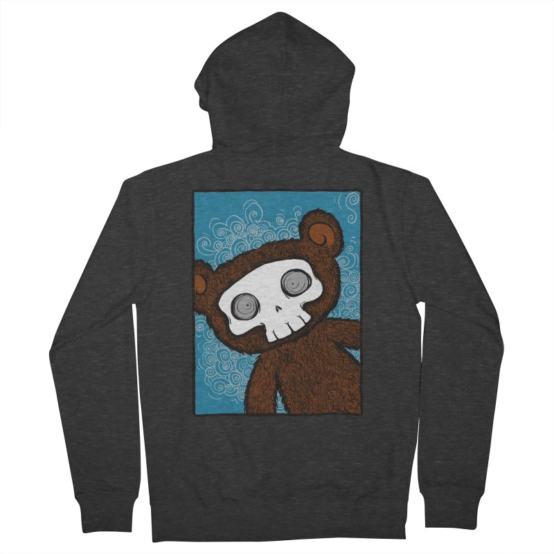 Hello There SkullyBear Men's French Terry Zip-Up Hoody by SkullyFlower's Sweetly Creepy Tees