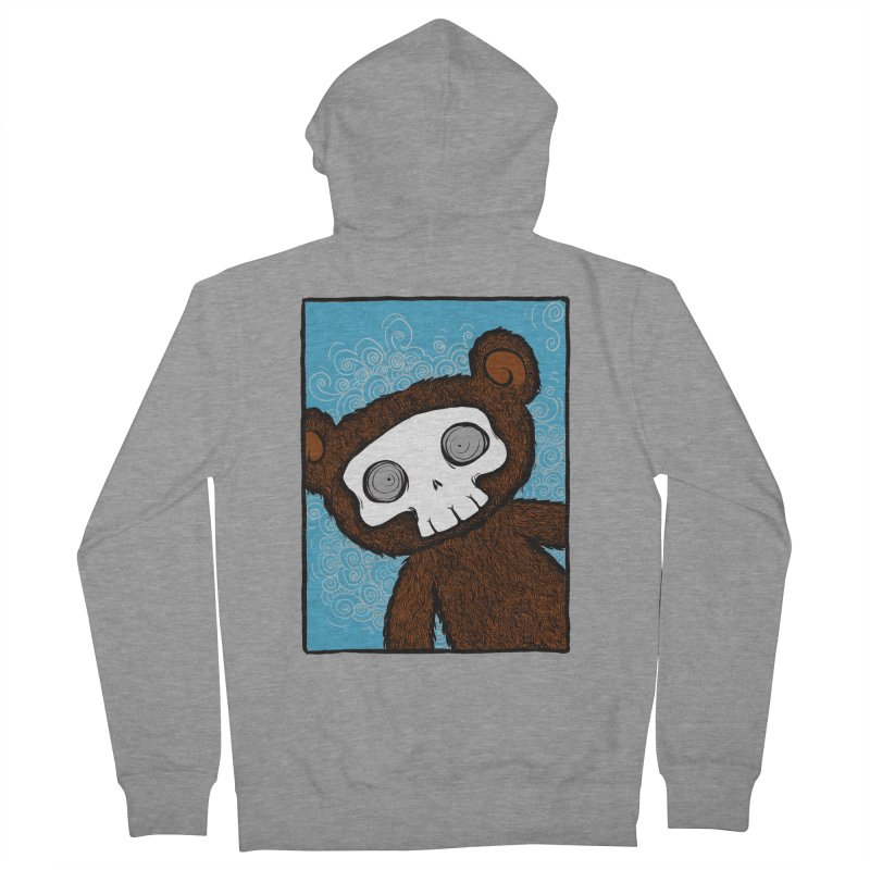 Hello There SkullyBear Men's Zip-Up Hoody by SkullyFlower's Sweetly Creepy Tees