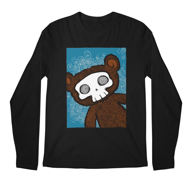 Hello There SkullyBear Men's Regular Longsleeve T-Shirt by SkullyFlower's Sweetly Creepy Tees